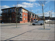 SO8453 : Diglis Weir apartments, Worcester by Philip Halling