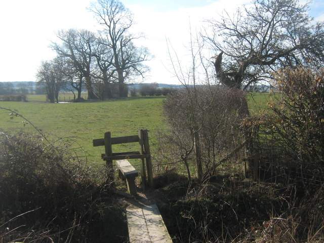 Stile on High Weald Landscape Trail near Dumbourne Farm
