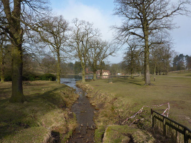 The Old Mill and pond at Lyme Park