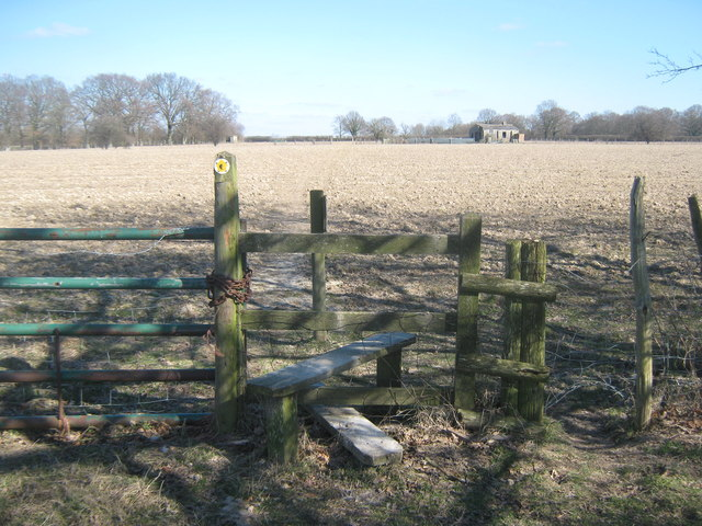Stile on the High Weald Landscape Trail on the Isle of Oxney