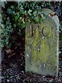 NZ1114 : A stone marker, inscribed 'FC' by Stanley Howe
