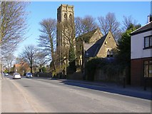 SD8611 : All Souls and Rochdale Road East by David Dixon