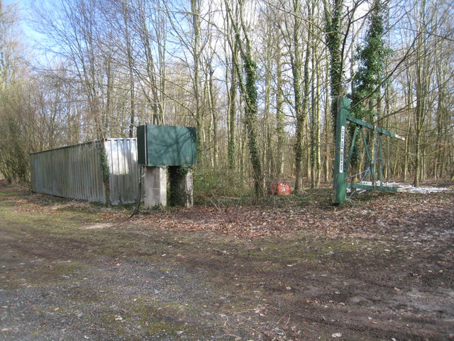 Water tank in the woods