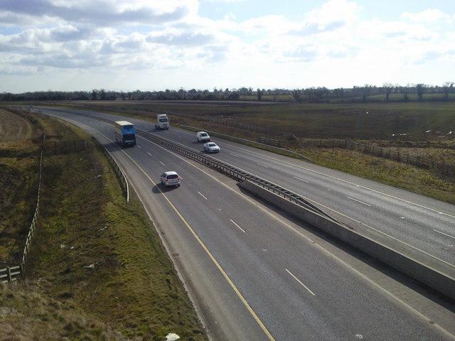 M2 Motorway at Harlockstown, Co Meath