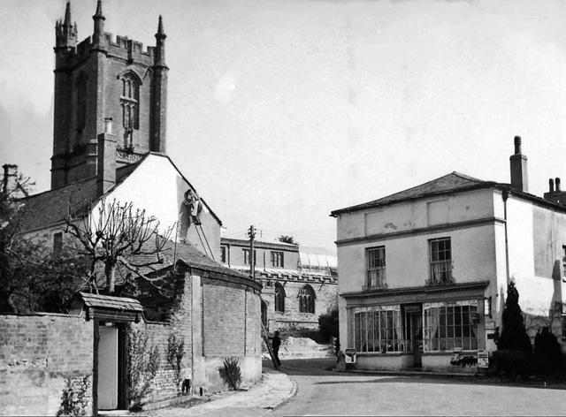 Cerne Abbas: Old Market House and St Mary's Church