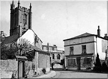 ST6601 : Cerne Abbas: Old Market House and St Mary's Church by Ben Brooksbank