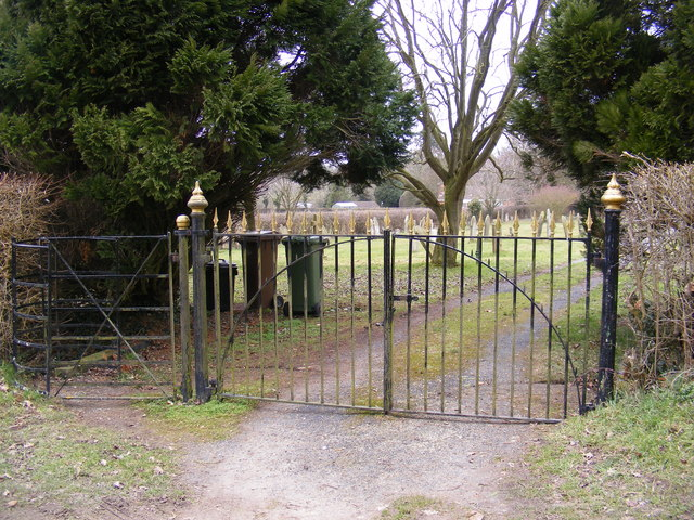 The Gates to Peasenhall Cemetery