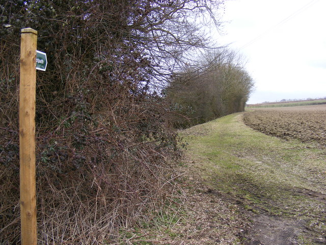 Footpath to Mill Road & Heveningham Long Lane