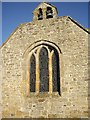 NZ1114 : Belfry and west window, St Mary's Wycliffe by Stanley Howe