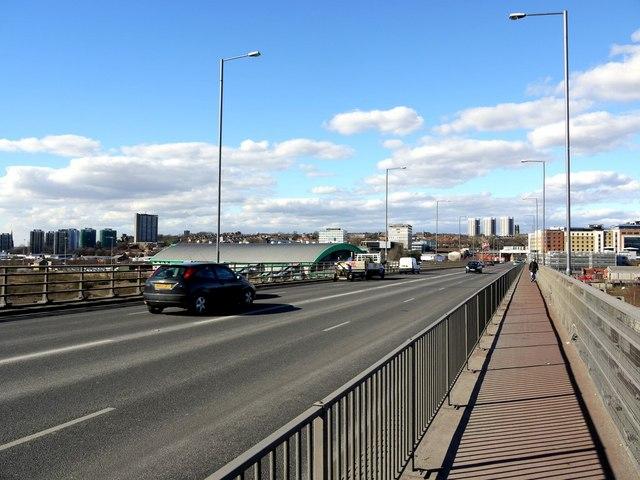 Redheugh Bridge, view to Newcastle