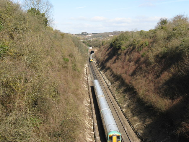 Northbound London train approaching Clayton Tunnel