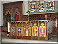 TG1604 : The church of St Remigius in Hethersett - the altar by Evelyn Simak