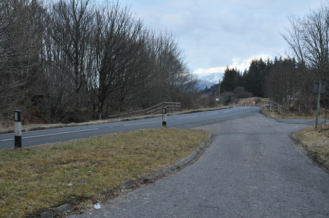 The A828 near Barcaldine