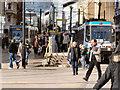 SJ8498 : Market Street tram stop by David Dixon
