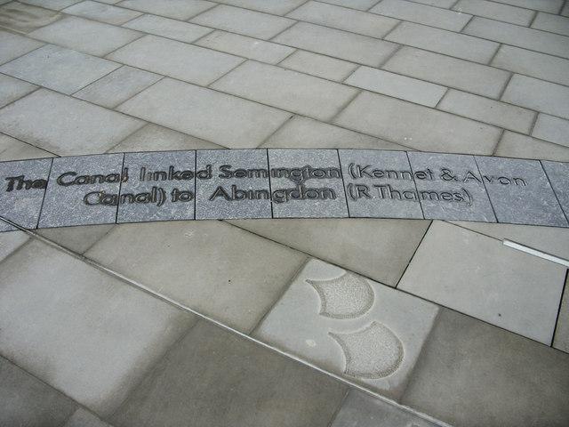 Paving stones, Canal Walk, Swindon