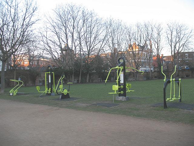 Outdoor gym in Mint Street Park