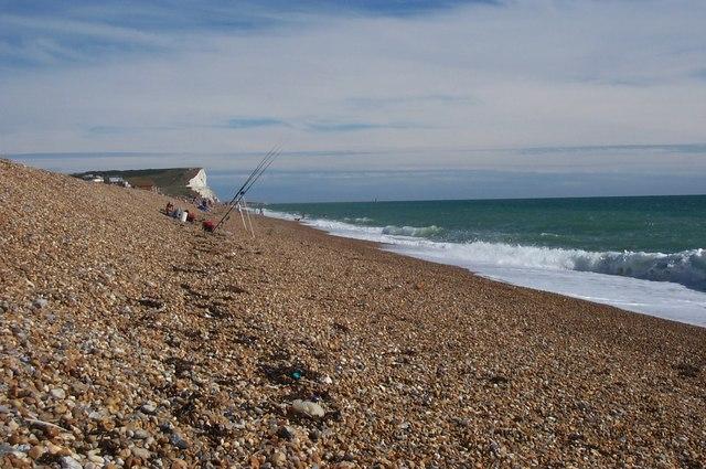 Fishermen on Seaford Beach