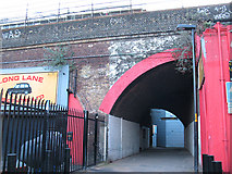 TQ3179 : Footpath through a railway arch, Southwark Bridge Road by Stephen Craven