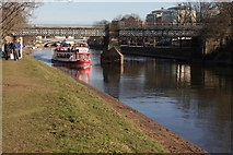 SE5952 : River Ouse and Scarborough Bridge, York by Michael Jagger