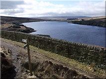 SD9633 : Walshaw Dean Middle Reservoir by Nigel Homer