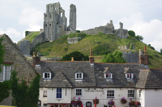Corfe Castle, from the church