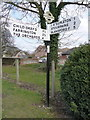 ST8612 : Iwerne Courtney: finger-post in Main Street by Chris Downer