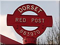 SY8897 : Anderson: detail of Red Post by Chris Downer