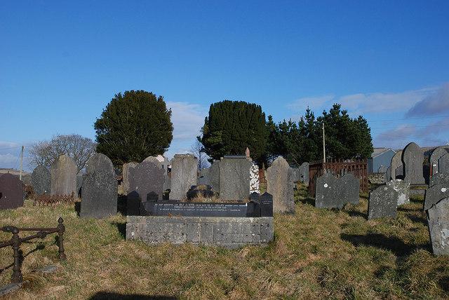 Llangwyryfon graveyard