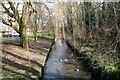 TQ3065 : Beddington:  River Wandle, looking upstream by Dr Neil Clifton