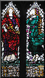 TQ1289 : St John the Baptist, Church Lane, Pinner - Window by John Salmon