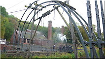 SJ6903 : Ironbridge construction at Blists Hill by Peter Comeau