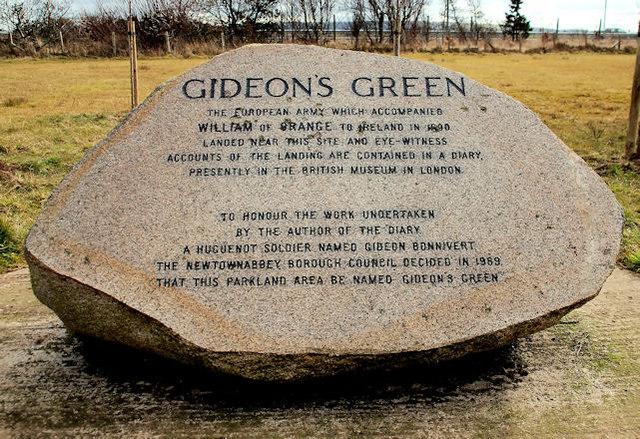 Gideon's Green memorial stone, Whitehouse