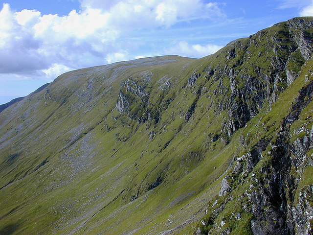 Crags above the Cadha Dearg