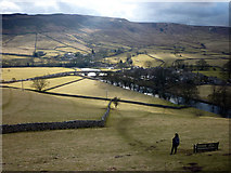 SE0361 : Burnsall Bridge picked out by the sun by Karl and Ali