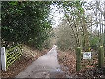 TQ4251 : Trevereux Hill enters Trevereux Estate by David Anstiss