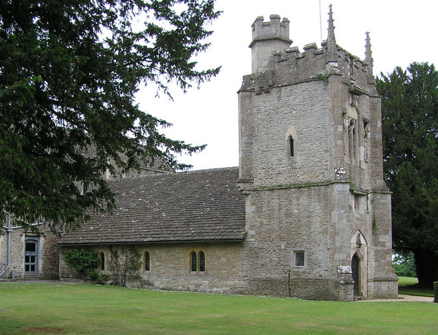 Chavenage Church attached to the Manor