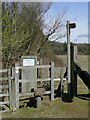 SO8281 : Stile on footpath near Blakeshall, Worcestershire by Roger  Kidd