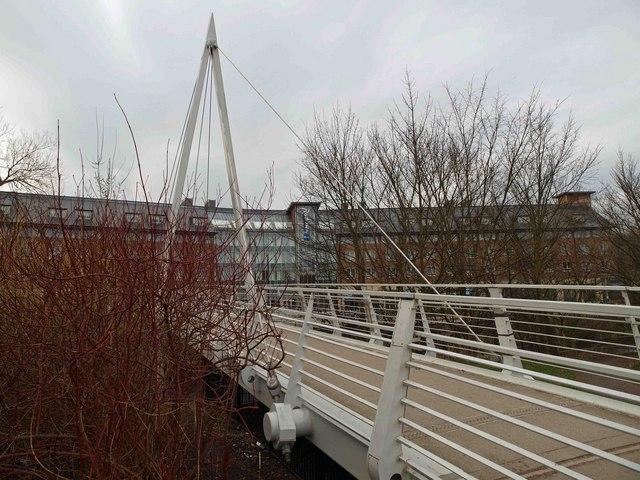 Footbridge over the River Wear to Framwelgate waterside, Durham