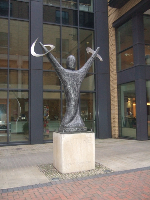 """Sculpture """"Future"""" in Brindley Place"""