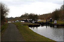 SD8639 : Leeds & Liverpool Canal:  Barrowford Lock No 50 by Dr Neil Clifton