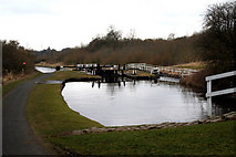 SD8639 : Leeds & Liverpool Canal:  Barrowford Bottom Lock No 51 by Dr Neil Clifton