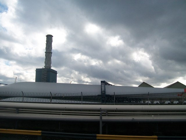 Wind turbine storage yard