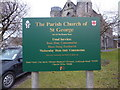 SD5192 : The Parish Church of St George, Kendal, Sign by Alexander P Kapp