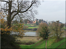 TM2863 : Looking across the mere to Framlingham College by Chris Gunns
