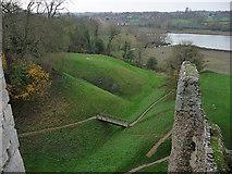 TM2863 : Framlingham Castle moat and mere by Chris Gunns