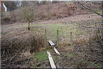 TQ6637 : Stile on the path to Little Owl House by N Chadwick