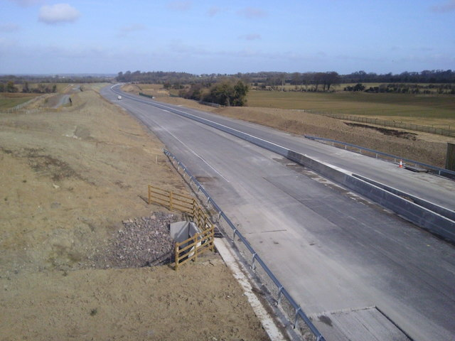 Motorway under construction, Co Meath