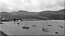 SH6215 : Barmouth Viaduct by Walter Dendy - deceased