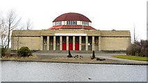 NZ2465 : Former Palace of Arts, Exhibition Park by Andrew Curtis