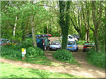 SU6269 : Car park by Tyle Mill lock by Sandy B